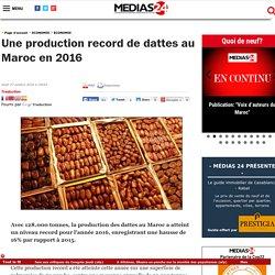 Une production record de dattes au Maroc en 2016