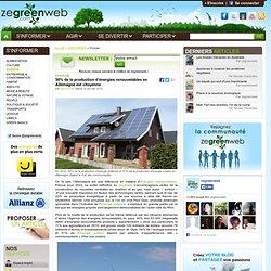 50% de la production d'énergies renouvelables en Allemagne est citoyenne