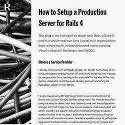 How to Setup a Production Server for Rails 4 // Rob McLarty