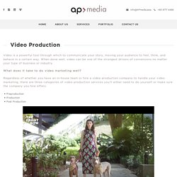 Video Production Services Singapore, Cambodia, KL