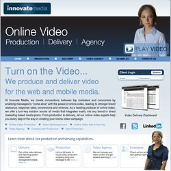 Online Video Production | Web Video Production | Green Screen Production Delivery Services | Innovate Media