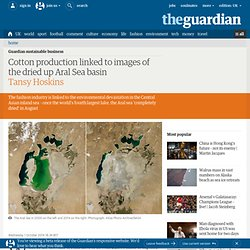 Cotton production linked to images of the dried up Aral Sea basin