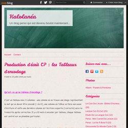 Production d'écrit CP : les Tableaux d'encodage