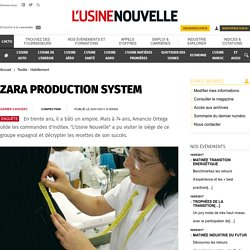 ZARA PRODUCTION SYSTEM - Textile - Habillement
