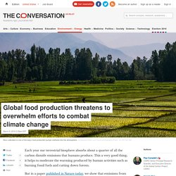 Global food production threatens to overwhelm efforts to combat climate change