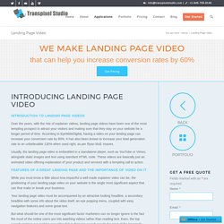 WE MAKE LANDING PAGE VIDEO