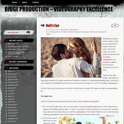 Ridge Production - Videography Excellence