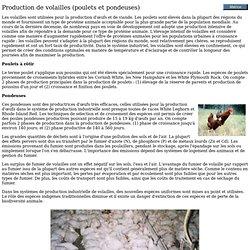 Fao - Production de volailles (poulets et pondeuses)