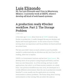 A production ready Docker workflow. Part 2: The Storage Problem