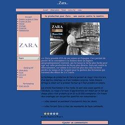 la production pour Zara , une course contre la montre. - ..Zara..