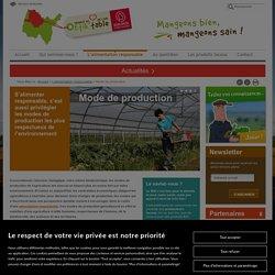 Les modes de productions de l'agriculture en France et dans l'Ain