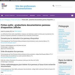 Fiches outils : productions documentaires panneau d'exposition /affiche