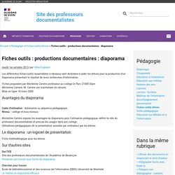 Fiches outils : productions documentaires : diaporama