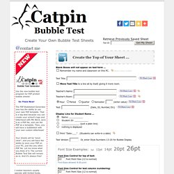 Productions, Bubble Test Form Generator - Teaching Tools