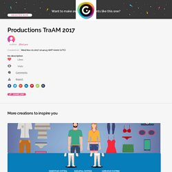 Productions TraAM 2017 by jfiliol.pro on Genially
