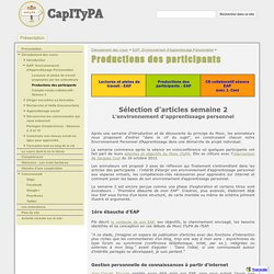 Productions des participants - CapITyPA