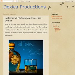 Doxica Productions: Professional Photography Services in Denver