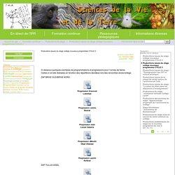 Productions issues du stage collège nouveaux programmes CYCLE 3 - Site des Sciences de la Vie et de la Terre de l'Académie de Limoges