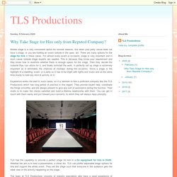 Why Take Stage for Hire only from Reputed Company?