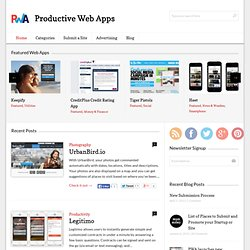 Productive Web Apps | Web Apps to help you at work and play