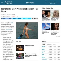 French: The Most Productive People In The World