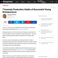 Productive Habits Of Successful Entrepreneurs
