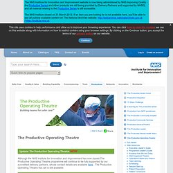 The Productive Operating Theatre