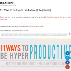 11 Ways to be Hyper Productive [Infographic] - Skill Collector