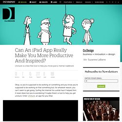 Can An iPad App Really Make You More Productive And Inspired?