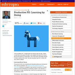 Productive PD: Learning by Doing