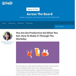 You Are (As Productive As) What You Eat: How To Make It Through The Workday - Trello Blog