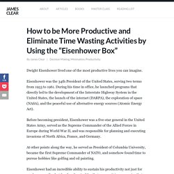 "How to be More Productive by Using the ""Eisenhower Box"""