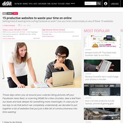 15 productive websites to waste your time on online