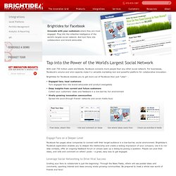 Innovate More Productively with Brightidea for Facebook