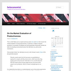 On the Market Evaluation of Productiveness