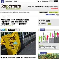 Des agriculteurs productivistes empêchent une manifestation pacifique contre les pesticides
