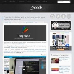 Pingendo : Un éditeur Web gratuit pour booster votre productivité Bootstrap !