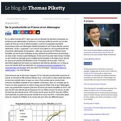 De la productivité en France et en Allemagne