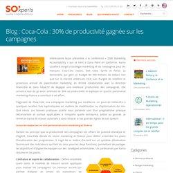 Coca-Cola : 30% de productivité gagnée sur les campagnes