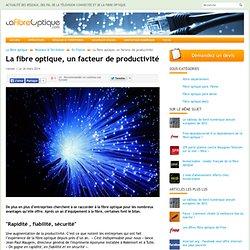 La fibre optique, un facteur de productivité