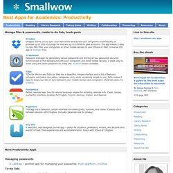 Productivity - Best Apps for Academics - Nicole's guides at Smallwow