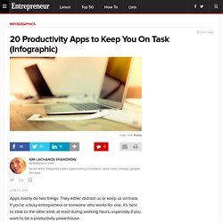 20 Productivity Apps to Keep You On Task (Infographic)