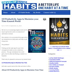 115 Productivity Apps to Maximize your Time