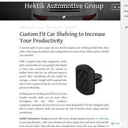 Custom Fit Car Shelving to Increase Your Productivity – Hektik Automotive Group