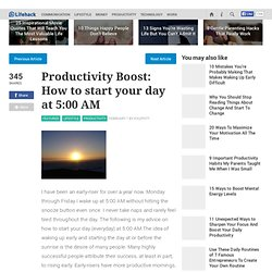 Productivity Boost: How to start your day at 5:00 AM