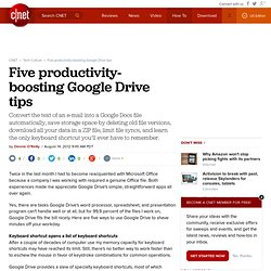 Five productivity-boosting Google Drive tips