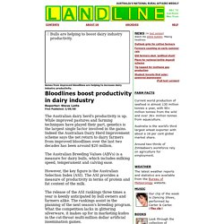 Bloodlines boost productivity in dairy industry - Landline - 3/09/00: