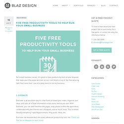 Five Free Productivity Tools to Help Run Your Small Business