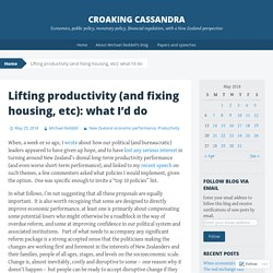 Lifting productivity (and fixing housing, etc): what I'd do
