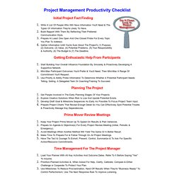 Productivity Checklists for Sales, Project Management & more
